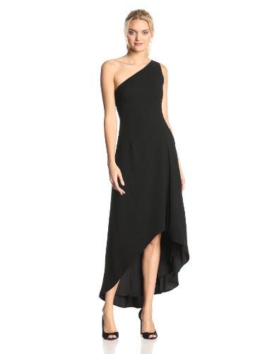 HALSTON HERITAGE Women's Crepe One Shoulder Mid-Length Dress