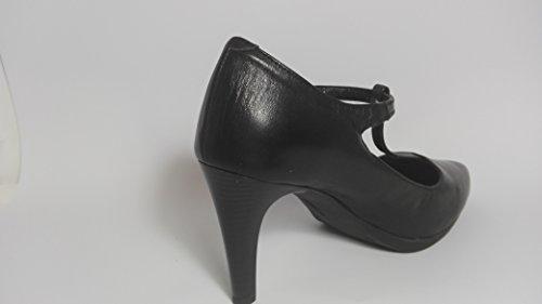 Desiree Salon negro con correilla en forma de T-Talla 39