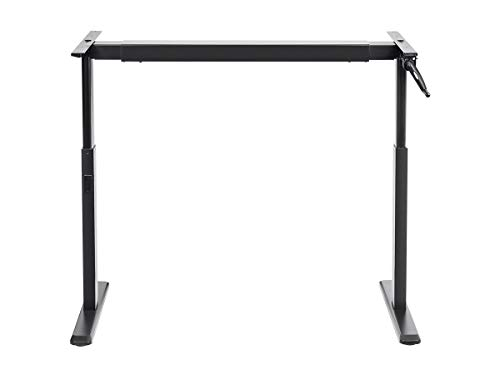 Monoprice Height Adjustable Sit-Stand Riser Table Desk Frame - Black with Manual Crank, Compatible with Desktops from 39 Inches Up to 63 Inches Wide - Workstream Collection ()