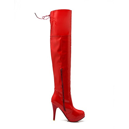 1TO9 - Stivali Chukka Donna, Rosso (Red), 35