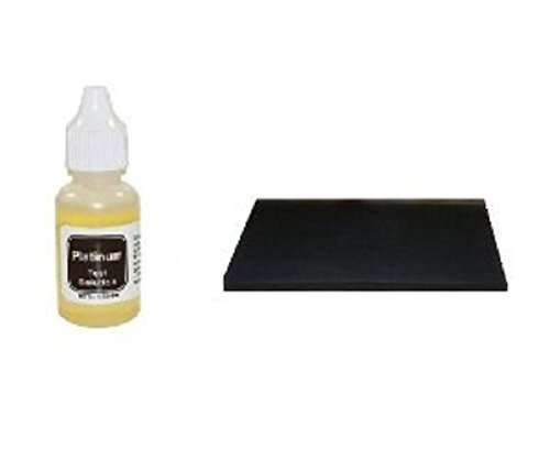 Home Platinum Test Kit for Scrap Jewelry, Coins, Solid Bullion Bars, Plated Antiques, and More! ()