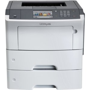 Lexmark International, Inc - Lexmark Ms610dtn Laser Printer - Monochrome - 1200 X 1200 Dpi Print - Plain Paper Print - Desktop - 50 Ppm Mono Print - 1200 Sheets Input - Automatic Duplex Print - Lcd - Gigabit Ethernet (Lexmark Ms610dtn Laser Printer)