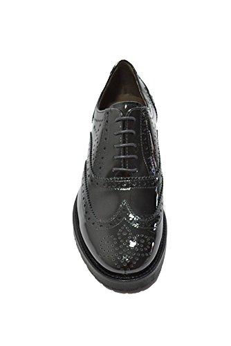 de Nero mujer cordones negro para negro Giardini Zapatos awqBz8