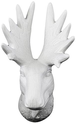Amazon Com Urban Trends Porcelain Deer Head Wall Decor Matte