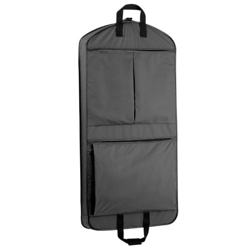 "WallyBags Luggage 45"" Extra Capacity Garment Bag with Pockets, Black"