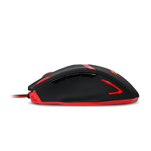 Redragon M801 Mammoth 16400 DPI Programmable Laser Gaming Mouse for PC, 9 Programmable Buttons, 5 User Profiles, Weight Tuning, Omron Switches, Black by Redragon (Image #3)