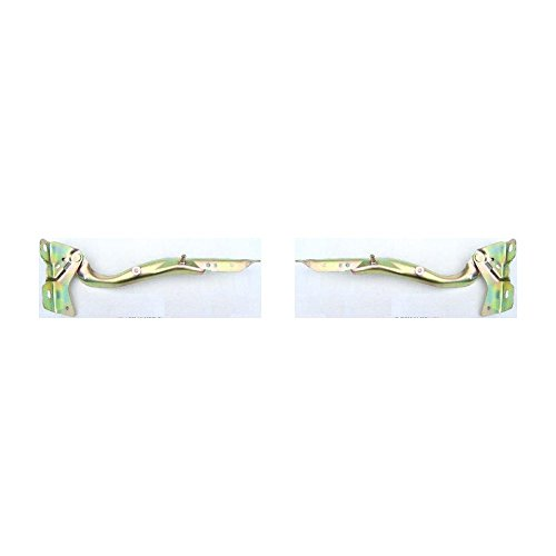 Evan-Fischer EVA19972058774 Hood Hinge for Ford F-250 97 Steel Set of 2 Gold zinc-plated Left and Right Side