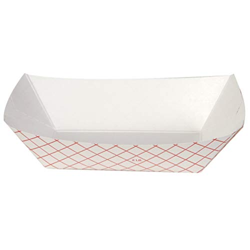 Dixie 2 Lb Polycoated Paper Food Tray by GP PRO (Georgia-Pacific), Kant Leek, Red Plaid, RP2008, 1,000 Count (250 Trays Per Pack, 4 Packs Per Case) ()