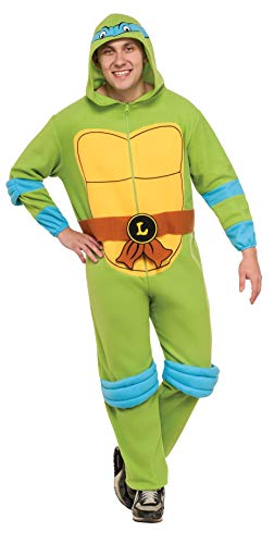 Rubie's Costume Men's Teenage Mutant Ninja Turtles Hooded Jumpsuit, Leonardo, Standard]()