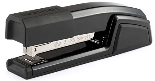 tal 3 in 1 Stapler with Integrated Remover & Staple Storage, Black (B777-BLK) ()
