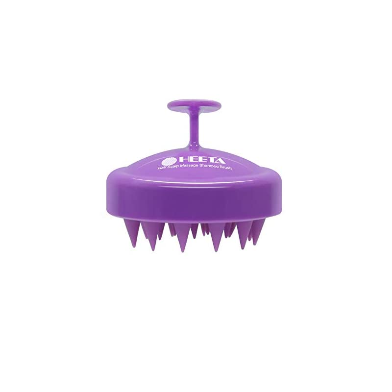 Hair Shampoo Brush, Heeta Scalp Care Brush with Soft Silicone Head Massager for Women, Men, Pet (Purple)