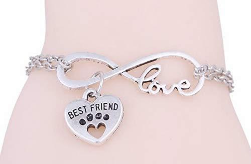 Dulaya Memories In Art Sympathy Gift for Loss of Pet Best Friend Love Heart Bracelet with Exclusive Memorial Poem Card