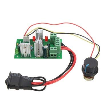 6- Board & Shield Other Module Board -30V 200W 16KHz PWM Motor Speed Controller Regulator Reversible Control Forward/Reverse Switch Reverse Polarity Protection High Current Protection High Efficien