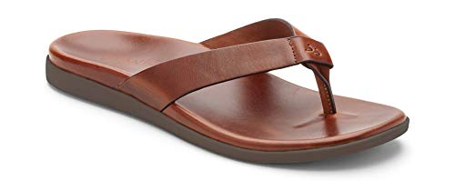 Vionic Men's Ludlow Elijah Thong Sandal Brown 13 M US
