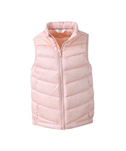 Hiheart Girls Winter Down Vest Sleeveless Jackets Pink 5/6