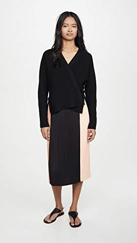 Buy Vince Women's Wool Cashmere Wrap Cardigan, Black, Medium
