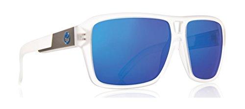 NEW Dragon The Jam Clear Blue Ion Mirror Mens Rectangular Sunglasses - Ion Sunglasses