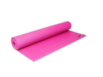 Amazon.com : YogaStudio Sticky Yoga Mat Pink 4mm : Sports ...