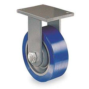 Hamilton Workhorse Caster - 6''Dia.X2''W Poly-Soft Polyurethane Wheel - 960-Lb. Capacity - -1/2'' Sealed Precision Ball Bearings - Rigid - Blue