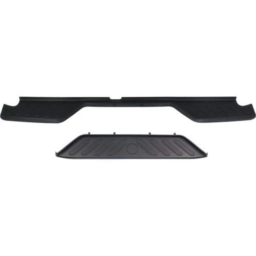 Plastic Bumper Rear (Garage-Pro Rear Bumper Step Pad Set of 2 for Frontier 2005-2018 Upper and Lower Black)