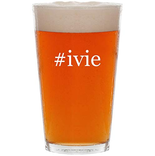 - #ivie - 16oz Hashtag All Purpose Pint Beer Glass