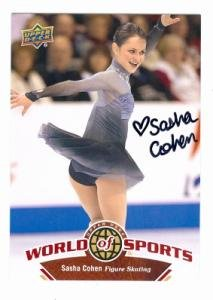 Sasha Cohen autographed Card (Figure Skating) 2010 Upper Deck World of Sports #223 (Card Autographed Deck Upper)