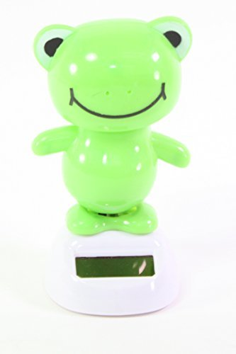 Dancing Fun Light Green Frog Animal Solar Powered Toys Da...