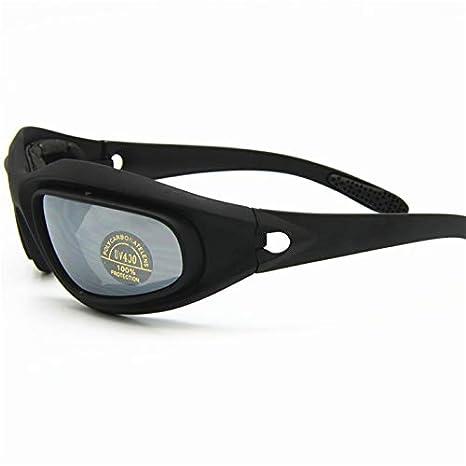 Daisy C5 ejército gafas polarizado Kit de lente 4, juego de guerra de militares gafas de sol de deportes al aire libre motociclismo bicicleta para hombres ...