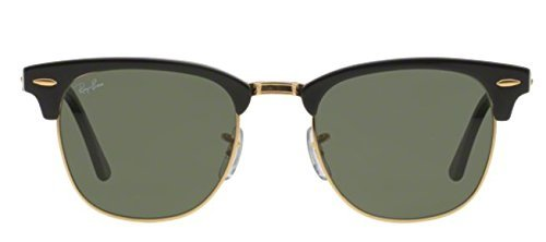 Ray Ban Sunglasses Clubmaster 3016 (49 mm, Crystal Green - Gold Rayban