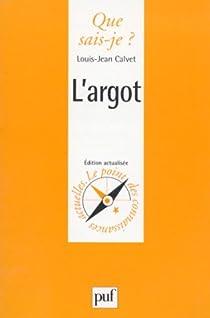 L'Argot par Calvet