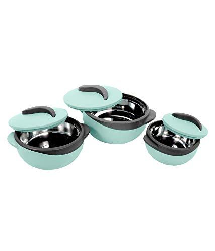 Pinnacle-Parisa-Matte-Casseroles-Set-of-3-500ml-1000ml-1500ml-Stainless-Steel-304-Inner-Body-to-Keep-Food-Hot-Pastel-Green