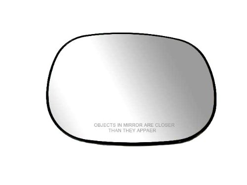 (Fit System 80016 Passenger Side Non-heated Replacement Mirror Glass with Backing Plate)