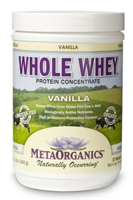 Whole Whey-Vanilla MetaOrganics 340 g Powder