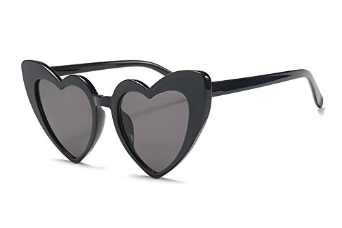 FEISEDY Vintage Heart Shaped Sunglasses Women Stylish Love Eyeglasses ()
