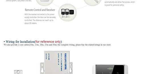 Kilanation Access Control Accessories Strike Lock Set with Power ()