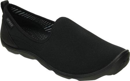 crocs Women's Duet Busy Day Shoe,Black/Black,8 M US