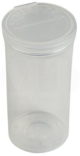 MT Products 19 Dram Pop Top Prescription Bottle (15 Pieces) (Clear) ()