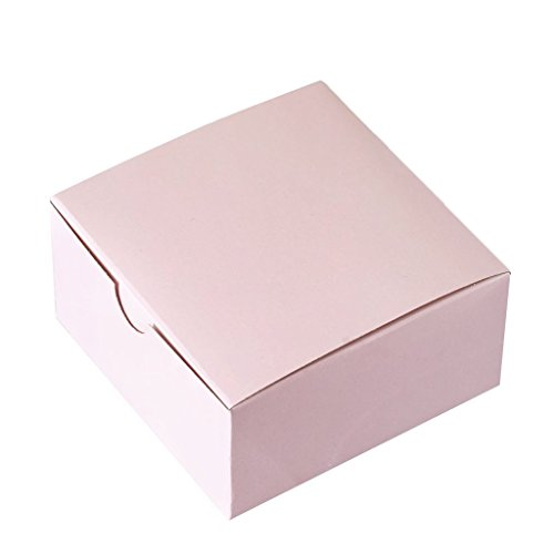 (Efavormart 100pcs of 4x4x2 Blush Favor Candy Box for Candy Treat Gift Wrap Box Party Favor Boxes for Bridal Shower Wedding Party)