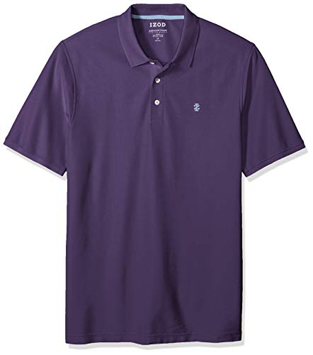 IZOD Men's Big and Tall Advantage Performance Short Sleeve Solid Polo Shirt, Ultra Violet S2019, 2X-Large
