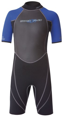 Hyperflex Wetsuits Junior's Access 2.5mm Spring Suit- Surfing, Windsurfing & Wakeboarding - Black/Blue, 10 ()