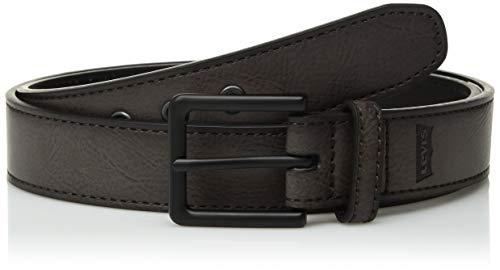 (Levi's Boys' Big Casual Belt with Edge Stitching, gray Medium (26-28))