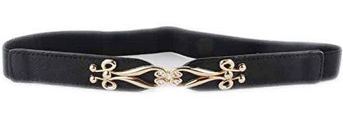 LeNG Nice fashion trench cummerbund thin elastic buckle waist belt strap belts women,OneSize,BlackColor by LeNG Apparel-belts