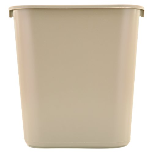 Rubbermaid Commercial Plastic 7-Gallon Trash Can, Beige