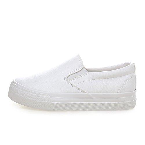 de planos de del versión Zapatos Zapatos Suela los estudiante superficiales con superior Mocasín A zapatos de plataforma gruesa Bajo lona La mujer zapatillas coreana wRqvn8