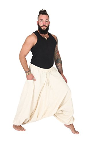 FAIR & GLOBAL - Pantalón - para mujer blanco multicolor extra-large