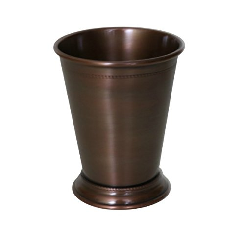 MarktSq Beaded Pure Copper Mint Julep Cup in Antique Finish - 14 oz SN6CM111