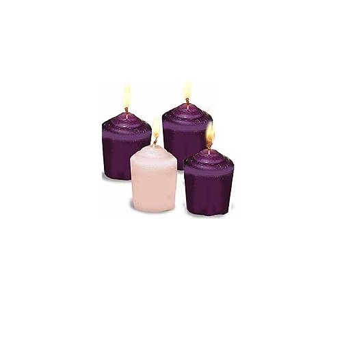 Abbey Gift Advent Candles (Short) for Advent Wreaths: Votives