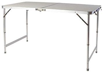Taille XXL en aluminium Table pliante 120 x 60 cm - hauteur ...