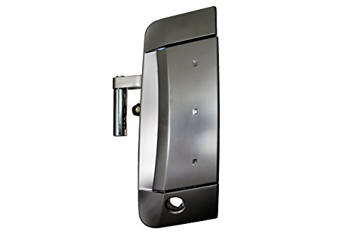 PT Auto Warehouse NI-3351R-FL - Exterior Outer Outside Door Handle, Satin Chrome (Silver) - Driver Side Front (Nissan 350z Driver Door Handle)