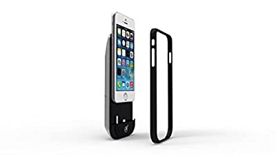 Best Holiday Gift: MiO Case for iPhone 6/6s. Battery Charger Case with Retractable Headphones Built-in. 3,500 mAh.. In Black